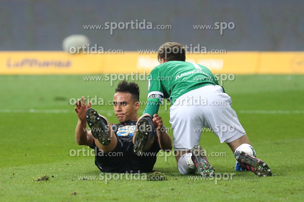 19.03.2016, Commerzbank Arena, Frankfurt, GER, 1. FBL, Eintracht Frankfurt vs Hannover 96, 27. Runde, im Bild Grosschance: Aenis Ben-Hatira (Frankfurt) scheitert an Torwart Ron-Robert Zieler (Hannover) // during the German Bundesliga 27th round match between Eintracht Frankfurt vs Hannover 96 at the Commerzbank Arena in Frankfurt, Germany on 2016/03/19. EXPA Pictures &copy; 2016, PhotoCredit: EXPA/ Eibner-Pressefoto/ Roskaritz<br /> <br /> *****ATTENTION - OUT of GER*****