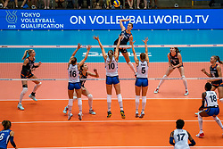 04-08-2019 ITA: FIVB Tokyo Volleyball Qualification 2019 / Netherlands, - Italy Catania<br /> last match pool F in hall Pala Catania between Netherlands - Italy for the Olympic ticket / Anne Buijs #11 of Netherlands attacks