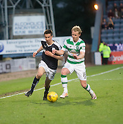 Dundee&rsquo;s Cammy Kerr takes on Celtic's Gary Mackay-Steven - Dundee v Celtic, Ladbrokes Scottish Premiership at Dens Park<br />  <br />  - &copy; David Young - www.davidyoungphoto.co.uk - email: davidyoungphoto@gmail.com