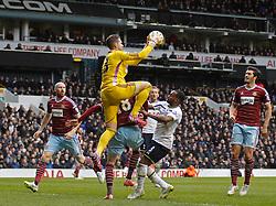 West Ham's Adrian catches the ball - Photo mandatory by-line: Mitchell Gunn/JMP - Mobile: 07966 386802 - 22/02/2015 - SPORT - football - London - White Hart Lane - Tottenham Hotspur v West Ham United - Barclays Premier League