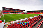 A general view of Oakwell before the EFL Sky Bet Championship match between Barnsley and Leeds United at Oakwell, Barnsley, England on 15 September 2019.
