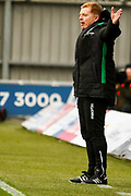 Hibernian FC Manager Neil Lennon getting animated during the Ladbrokes Scottish Premiership match between St Mirren and Hibernian at the Simple Digital Arena, Paisley, Scotland on 29th September 2018.
