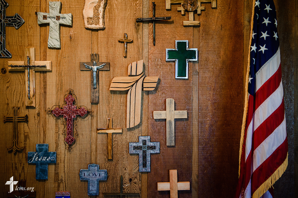 Crosses at Ascension Lutheran Church on Wednesday, May 11, 2016, in Cleburne, Texas. LCMS Communications/Erik M. Lunsford