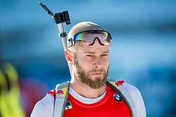 MESOTITSCH Daniel (AUT) in finish area after he competed during Men 12,5 km Pursuit at day 3 of IBU Biathlon World Cup 2014/2015 Pokljuka, on December 20, 2014 in Rudno polje, Pokljuka, Slovenia. Photo by Vid Ponikvar / Sportida