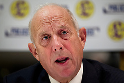 © Licensed to London News Pictures. 24/10/2012. LONDON, UK. Godfrey Bloom, the UK Independence Party Police and Crime Commissioner candidate for Humberside - who will be running against former Labour MP John Prescott - , is seen talking at a press conference in London today (24/10/12).  The conference was held by the party to announce their 25 candidates who will stand for the position of Police and Crime Commissioner in various constabularies across England and Wales. Photo credit: Matt Cetti-Roberts/LNP