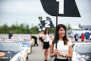 Grid girls before round 5 at Calabogie.