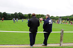 Bristol Rovers Manager, John Ward (right) watches Bristol Rovers U18s play Bournemouth U18s  - Photo mandatory by-line: Dougie Allward/JMP - Tel: Mobile: 07966 386802 17/08/2013 - SPORT - FOOTBALL - Bristol Rovers Training Ground - Friends Life Sports Ground - Bristol - Academy - Under 18s - Youth - Bristol Rovers U18s V Bournemouth U18s