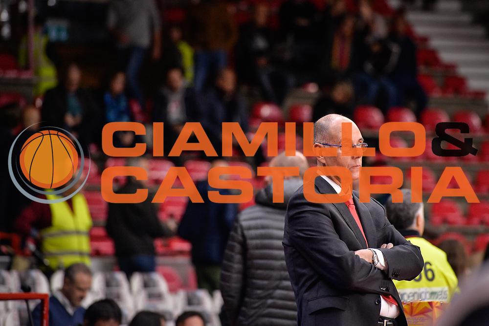 Attilio Caja<br /> Pallacanestro Cantu' - Dolomiti Energia Trento<br /> Basket serie A 2017/2018<br /> Varese 22/10/2017<br /> Foto Mattia Ozbot /Ciamillo-Castoria