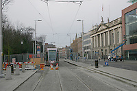 Luas stop at St Stephens Green, Dublin, Ireland
