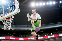 Dunking Kings during basketball match between KK Union Olimpija and  Cimberio Varese (ITA) of 1st Round of Regular season of EuroCup 2013/2014 on October 16, 2013, in SRC Stozice, Ljubljana, Slovenia. (Photo by Urban Urbanc / Sportida)
