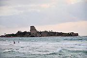 Israel, Atlit, Outline of the Crusader fortress