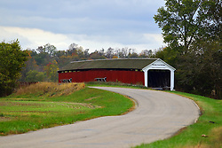 24 October 2017: Thorpe Ford Bridge.  Parke County Indiana is the site of the Indiana Covered Bridge Festival every October