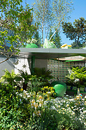 The Green Fingers Charity Garden, a show garden at the RHS Chelsea Flower Show 2019, London, UK