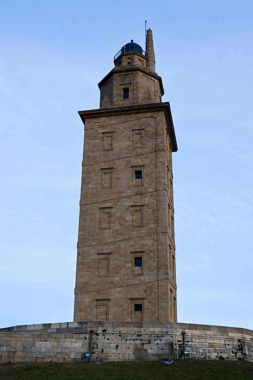 Hercules Lighthouse, A Coruna, Spain UNESCO World Heritage Site.<br /> <br /> Torre de H&eacute;rcules, A Coru&ntilde;a, Espa&ntilde;a, declarada Patrimonio de la Humanidad por la UNESCO en 2009.