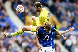 Everton's John Stones is fouled - Mandatory by-line: Matt McNulty/JMP - 02/08/2015 - SPORT - FOOTBALL - Liverpool,England - Goodison Park - Everton v Villareal - Pre-Season Friendly