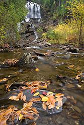 Beaver Brook Falls in Colebrook, New Hampshire.  Fall.