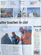 Publication I in Nouvelliste, Sion, Switzerland.