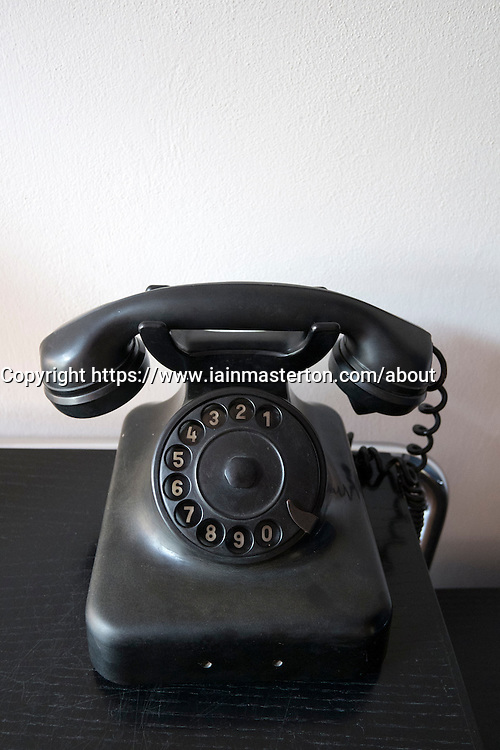 Telephone in Bauhaus Masters' Houses by Walter Gropius on Ebertallee in Dessau-Rosslau Germany