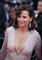Actress Juliette Binoche at the gala screening for the film The Last Face at the 69th Cannes Film Festival, Friday 20th May 2016, Cannes, France. Photography: Doreen Kennedy