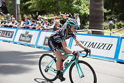 Jennifer George (GBR) of Drops Cycling Team finishes the fourth, 70 km road race stage of the Amgen Tour of California - a stage race in California, United States on May 22, 2016 in Sacramento, CA.