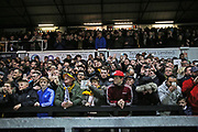 Newport fans waiting for their team to arrive during the The FA Cup 4th round match between Newport County and Tottenham Hotspur at Rodney Parade, Newport, Wales on 27 January 2018. Photo by Gary Learmonth.