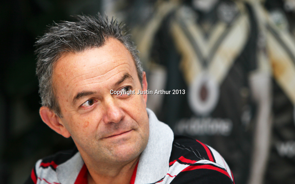 Wayne Scurrah. Vodafone Warriors in Wellington - Vodafone Warriors hold a press conference in Wellington ahead of their clash with the Bulldogs on Saturday 11 May 2013. Westpac Stadium, Wellington, New Zealand on 20 March 2013. Photo: Justin Arthur / photosport.co.nz