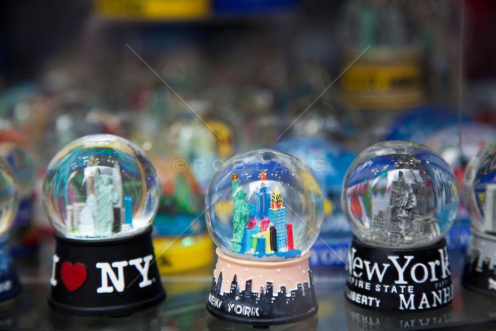 snow globes of New York City