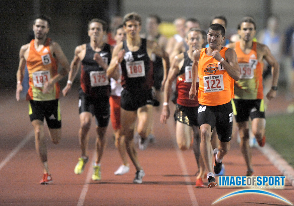 May 18, 2012; Los Angeles, CA, USA; Raul Botezan of Oklahoma State wins 1,500m heat in 3:41.14 in the 2012 USATF High Performance meet at Occidental College.