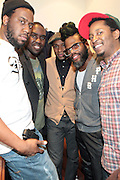 26 February 2011-New York, NY-l to r: Robert Glasper, Derrick Hodge, Mos Def, KC Benjamin, and Chris Dave backstage at The Robert Glasper Experiment Produced in Association with Jill Newman Productions and held at The Blue Note on February 26, 2011 in New York City. Photo Credit: Terrence Jennings