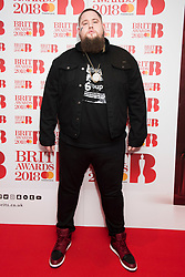 EDITORIAL USE ONLY XXXX Rag n Bone Man attending the Brit Awards 2018 Nominations event held at ITV Studios on Southbank, London. Photo credit should read: David Jensen/EMPICS Entertainment