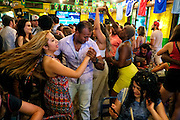 NEW YORK, NY - June 22:  People dance following the 2014 FIFA World Cup Brazil Group G match between the United States and Portugal at Miss Favela in Williamsburg, Brooklyn on June 22, 2014 in NEW YORK, NY.  (Photo by Michael Bocchieri/Bocchieri Archive)
