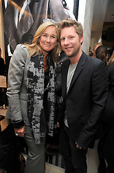 Angela Ahrendts Chief executive of Burberry, CHRISTOPHER BAILEY  at a reception hosted by Vogue and Burberry to celebrate the launch of Fashions Night Out - held at Burberry, 21-23 Bond Street, London on 10th September 2009.
