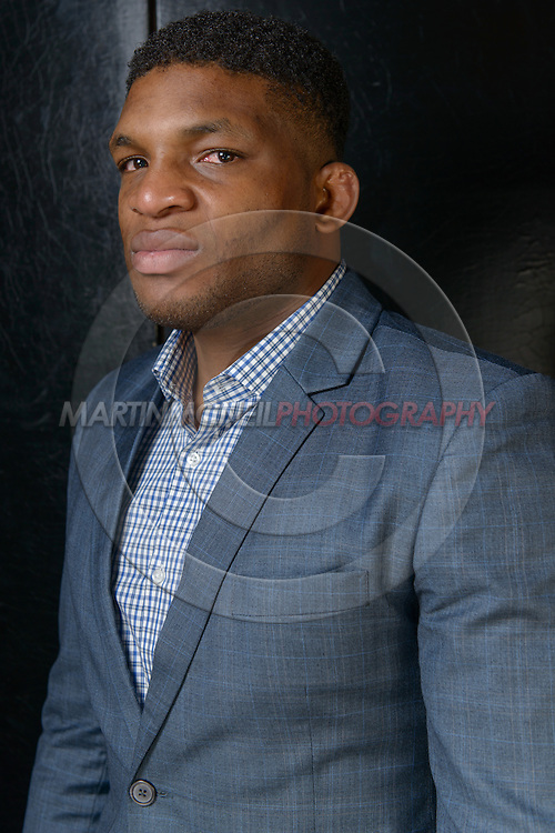 "LONDON, ENGLAND, APRIL 18, 2016: Paul Daley poses for a portrait following the event announcement press conference for ""Bellator 158: Slice vs. Thompson"" inside the Four Seasons Hotel in Park Lane, London (© Martin McNeil)"