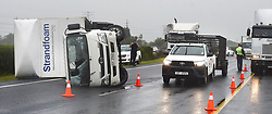 SOUTH AFRICA - Cape Town - 9 July  2020  -A truck has overturned on the N2 near Somerset West,cousing a delay on the freeway.The traffic  officers and breakdown trucks are busy removing it. Picture: Phando Jikelo/African News Agency(ANA)