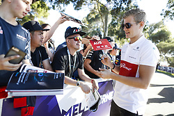March 22, 2018 - Melbourne, Victoria, Australia - ERICSSON Marcus (swe), Alfa Romeo Sauber F1 Team C37, portrait autographs with fans during 2018 Formula 1 championship at Melbourne, Australian Grand Prix, from March 22 To 25 - Photo  Motorsports: FIA Formula One World Championship 2018, Melbourne, Victoria : Motorsports: Formula 1 2018 Rolex  Australian Grand Prix, (Credit Image: © Hoch Zwei via ZUMA Wire)