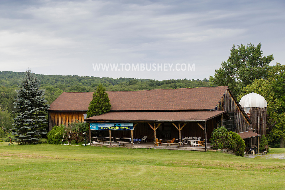 Jeffersonville, New York - Weekend of Chamber Music Gala Concert at the Eddie Adams Barn on July 25, 2015.   Performers were soprano Lindsay Kesselman, Nurit Pacht on violin,  Caroline Stinson on cello and Tannis Gibson and Christopher James Lees on piano.