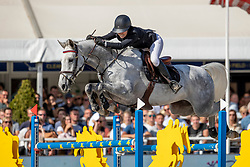 Gulliksen Victoria, NOR, Ibiza<br /> FEI WBFSH Jumping World Breeding Championship for Young Horses<br /> Lanaken 2019<br /> © Hippo Foto - Dirk Caremans<br />  22/09/2019
