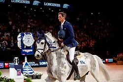 DEUSSER Daniel (GER), Cornet D'Amour<br /> Paris - FEI World Cup Finals 2018<br /> Longines FEI World Cup Jumping Final IV<br /> www.sportfotos-lafrentz.de/Stefan Lafrentz<br /> 15. April 2018
