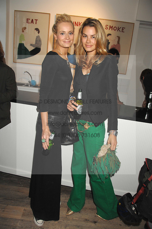 Left to right, KALITA AL-SWAIDI and ISABELLE BSCHER at a party to celebrate the opening of a new art gallery, 20 Hoxton Square, Hoxton Square, London on 27th April 2007.<br />
