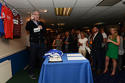 Geoff Twentyman presents an auction - Mandatory byline: Dougie Allward/JMP - 07966386802 - 31/07/2015 - FOOTBALL - Memorial Stadium -Bristol,England - Bristol Rovers v West Brom - Phil Kite Testimonial Match