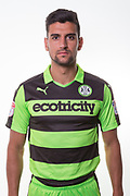 Forest Green Rovers Omar Bugiel(11) during the Forest Green Rovers Photocall at the New Lawn, Forest Green, United Kingdom on 31 July 2017. Photo by Shane Healey.