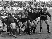 All Black line out precision with Graham Whiting calmly feeding the ball back one-handed during an All Blacks Internal Tour against Wanganui at Wanganui on 23 May 1972.<br /> Copyright photo: Ron Cooke / www.photosport.co.nz