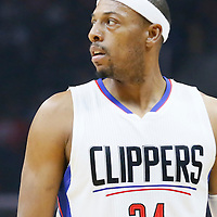09 November 2015: Los Angeles Clippers forward Paul Pierce (34) is seen during the Los Angeles Clippers 94-92 victory over the Memphis Grizzlies, at the Staples Center, in Los Angeles, California, USA.