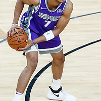 08 October 2017: Sacramento Kings forward Skal Labissiere (7) looks to pass during the LA Lakers 75-69 victory over the Sacramento Kings, at the T-Mobile Arena, Las Vegas, Nevada, USA.