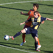 Michael McGlinchey in action during the Central Coast Mariners V Brisbane Roar A-League match at Bluetongue Stadium, Gosford, Australia, 19 December 2009. Photo Tim Clayton