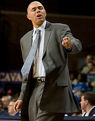 Virginia head coach Dave Leitao on directs his team against Hampton.  The Virginia Cavaliers men's basketball team defeated the Hampton Pirates 79-65 at the John Paul Jones Arena in Charlottesville, VA on December 19, 2007.