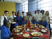 The Pin Oak MS Student Council showed its appreciation for the school's Café staff. Students dressed as waitstaff and served the ladies on china while holiday jazz music played in the background.  The Pin Oak Student Council will continue to honor campus personnel with a Maintenance & Housekeeping Staff Dessert Party and also a Bus Driver Appreciation morning.<br />