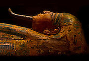 Ancient Egyptian King's coffin. Brooklyn Museum.