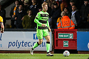 Forest Green Rovers Nathan McGinley(19) on the ball during the EFL Sky Bet League 2 match between Cambridge United and Forest Green Rovers at the Cambs Glass Stadium, Cambridge, England on 2 October 2018.