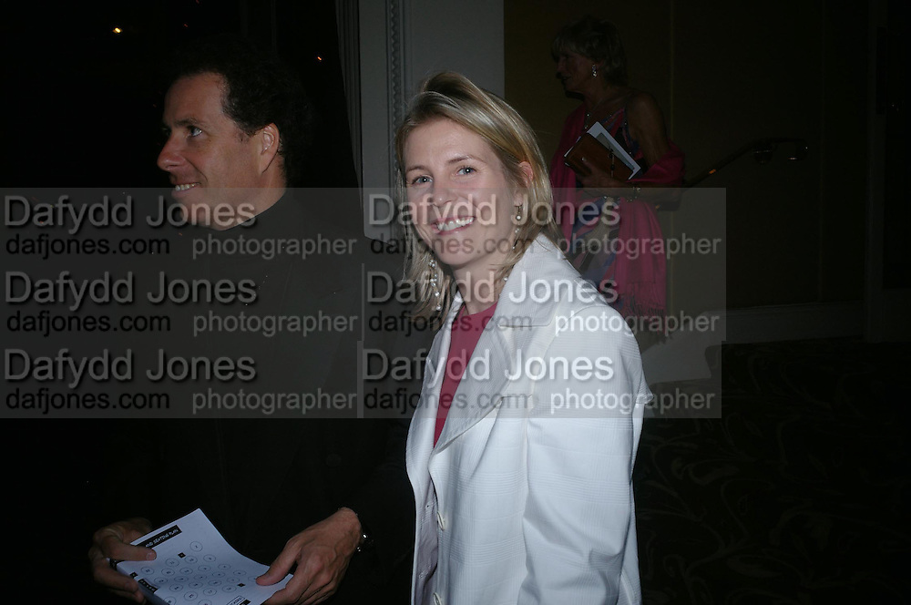 Viscount and Viscountess Linley. The Grosvenor House Art and Antiques Fair charity Gala evening in aid of the NSPCC. 16 June2005. ONE TIME USE ONLY - DO NOT ARCHIVE  © Copyright Photograph by Dafydd Jones 66 Stockwell Park Rd. London SW9 0DA Tel 020 7733 0108 www.dafjones.com